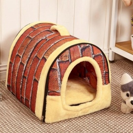 Dog-House-Kennel-Nest-With-Mat-Foldable-Pet-Dog-Bed-Cat-Bed-House-For-Small-Medium-Dogs-Travel-Pet-Bed-Bag-Product