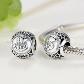 9a82463b3 Sterling Silver 925 Jewelry 12 Constellation Logo Charms Beads Fit Pandora  Charm DIY Bracelet Accessories Silver