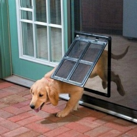 Lockable-Plastic-Pet-Dog-Cat-Kitty-Door-For-Screen-Window-Security-Flap-Gates-Pet-Dog-Fence-Free-Access-Door-For-Home