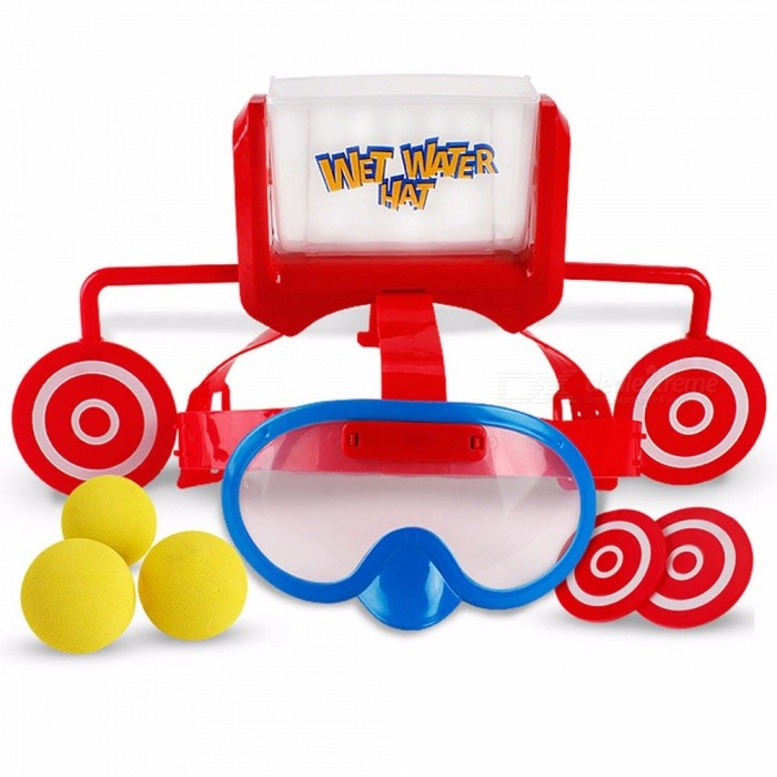 Wet-Head-Water-Hat-Target-Game-Children-Family-Friends-Party-Funny-Prank-Challenge-Hat-Toy-Glasses-Cap-Toy-In-Outdoor-YellowOneSize