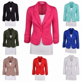 Europe-And-The-United-States-Slim-One-Button-Suit-Jacket-Long-sleeved-Small-Suit-Rose