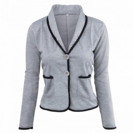 New-Slim-Thin-Short-Paragraph-Small-Suit-Jacket-Casual-Lapel-Blazer-For-Women-Rose