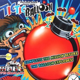 TicTic Balloon Timing Bomb Board Game, Complete Mission Before Balloon Explodes, Balloon Bomb Family Play Game Blue