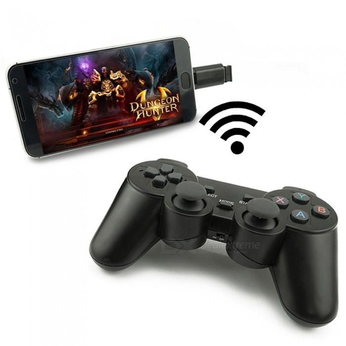 Wireless Gamepad Mobile Phone Game Controller PC Joystick With PC For Windows Win7/win8/win10/Android/STEAM Game Black