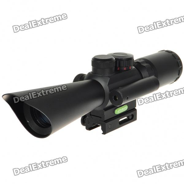 Professional Laser Sight Rifle Scope with Gun Mount (3.5-10x40)