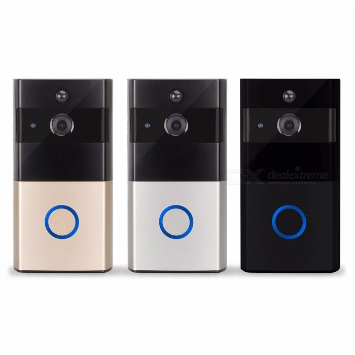 720P 100 Wire-free WIFI Smart Video Doorbell W/ Wide Angle Lens, Night Vision, Motion Detection