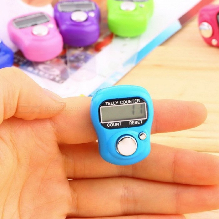 Row Finger Ring Tally Counter Stitch Marker LCD Screen Display Electronic Digital Mini 1Pcs Multi
