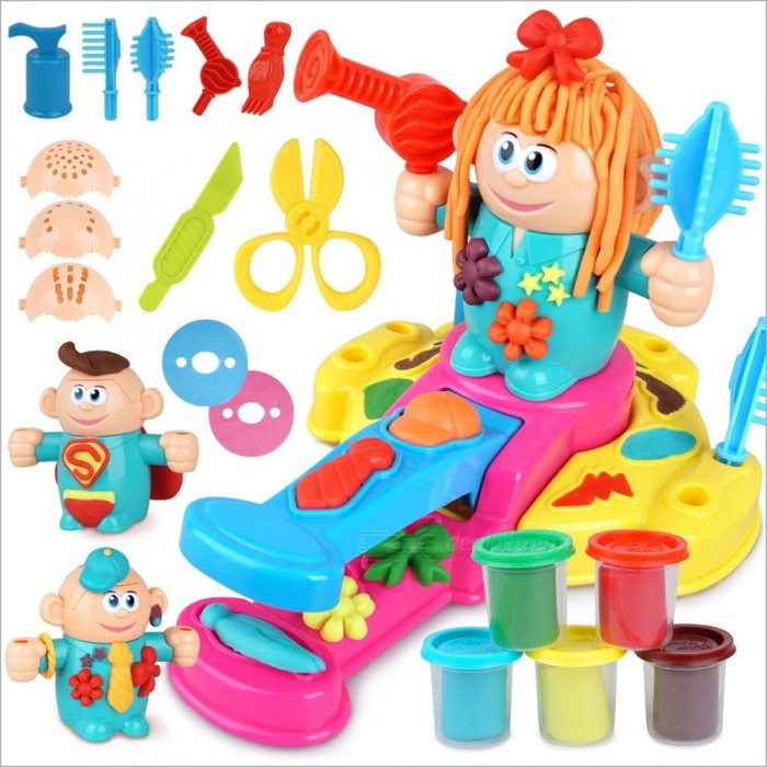 New-Children-Modeling-Clay-Toy-Set-Plasticine-Non-toxic-Mold-Tool-Suit-Children-Ultraclay-Toy-3D-Barber-Mud-Multicolor