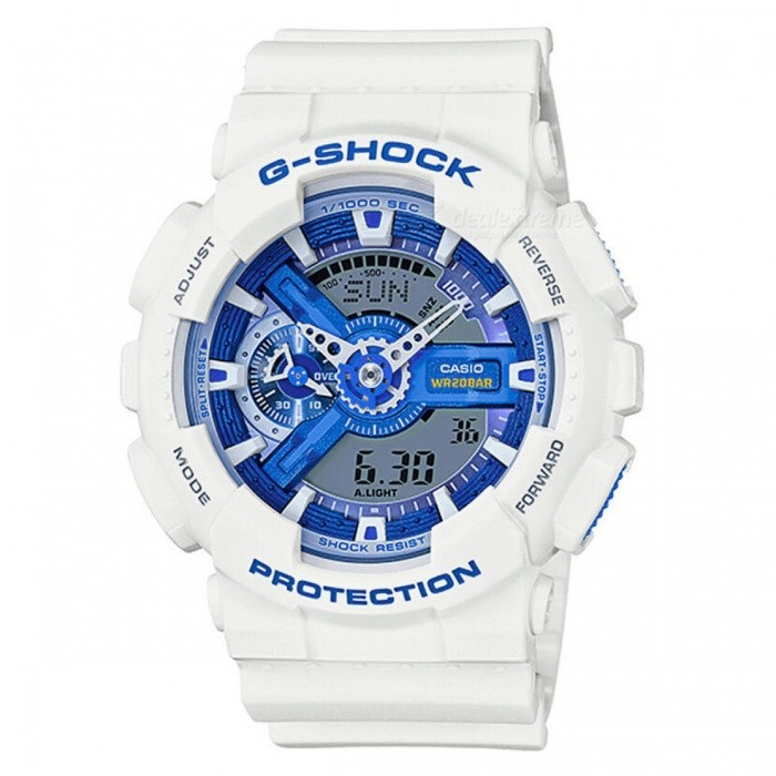 Casio G-Shock GA-110WB-7A White & Blue Series Magnetic Resistant Watch-White+Blue