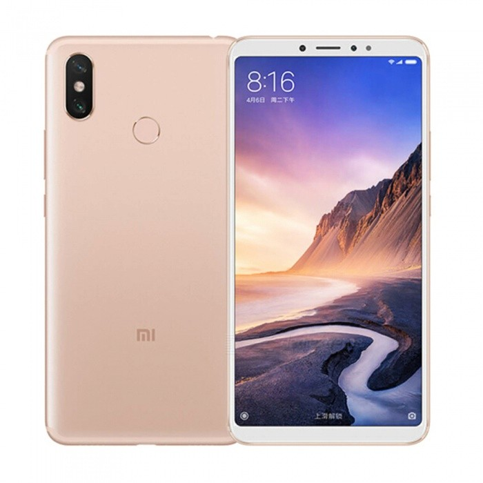 Xiaomi max3 Android Phone with 4GB RAM, 64GB ROM - Gold (Chinese Version)