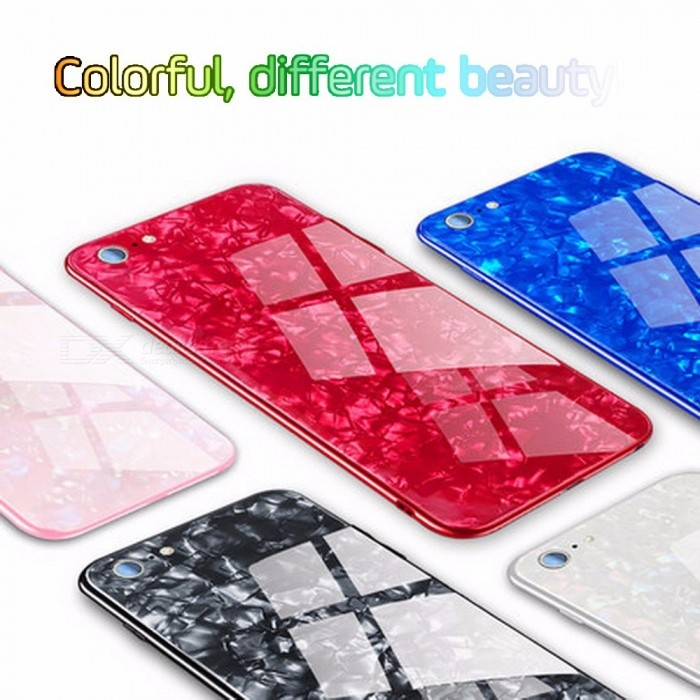 Chic Mobile Phone Shell  All-inclusive Explosion-proof Glass Phone Cover For IPhone 7/8
