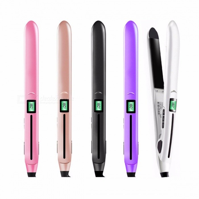 Buy Professional Hair Straightener With LONIC + Infrared Hair Straightener Straightening Iron +LCD Display Hair Flat Iron Black/EU with Litecoins with Free Shipping on Gipsybee.com