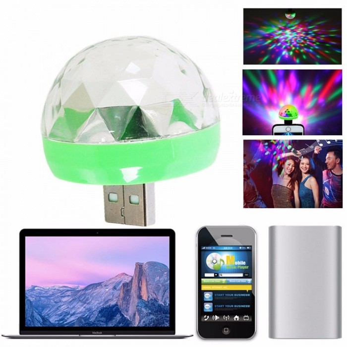 Z20 Mobile USB Stage Light Mini Led Crystal Magic Ball Small Lights Colorful Turn DJ Sound Clear