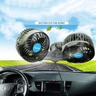 HX-T701E 12V 4.5inch Suction Cup Car Fan Portable Stepless Car Vehicle Van Air Fan Adjustable Cooler Cooling Fan