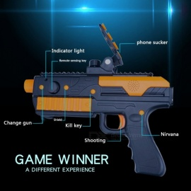 VR Game Gun For Kids Gun Toy Bluetooth AR-Gun With Phone Stand, Suitable For Android IOS IPHONE Mobile Phones Orange