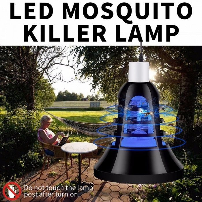 New LED Mosquito Killer Bulb LED Zapper Trap Lamp 110V E27 Insect Anti Mosquito Repeller Killing Fly Bug Night Light Black/Purple