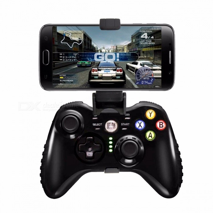 Smart 2.GHz Wireless Bluetooth Game Controller Gamepad Dualshock Analog Joypad For Android Phones Black