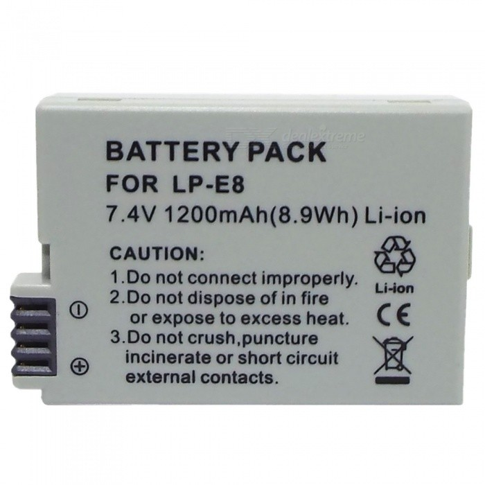 KWS LP-E8 Compatible 7.4V 1150mAh Battery Pack for Canon EOS 550D