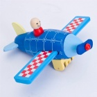 Magnetic Removal Disassembly Assembly Aircraft Rocket Helicopter Model Baby Wooden Toy Kid Educational Toys Gifts Yellow
