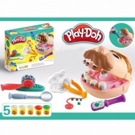 Kids-Doctor-Toys-Children-Play-House-Toy-Baby-Dentist-Cosplay-Plasticine-Clay-Kit-Educational-Toys-Multicolor