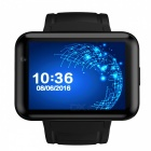 Eastor DM98 Metal Dual-Core Android 3G Smart Phone Watch 512MB RAM 4GB ROM Support SIM Card with Camera - Black