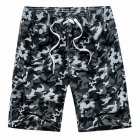 Fashion Men\'s Casual Camouflage Board Shorts, Casual Quick Dry Large Size Summer Male Beach Shorts, Short Pants Army Green/XXL