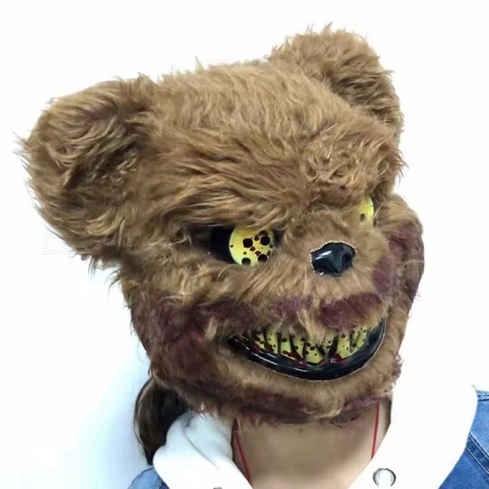 Other Toys Teddy Bear Plush Plastic Full Face Mask Toy Scary