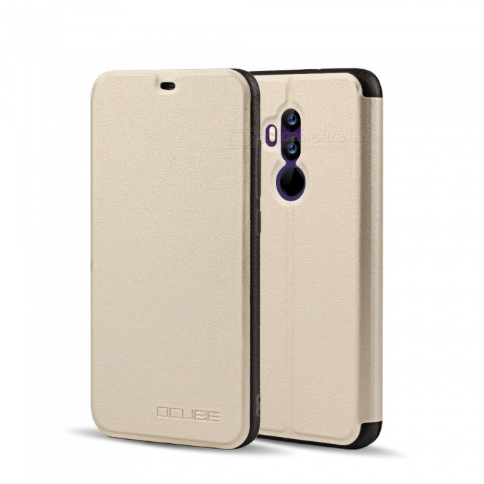 OCUBE Protective Flip-open PU Leather Case for UMIDIGI Z2 / Z2 Pro 6.2 Inches - Gold