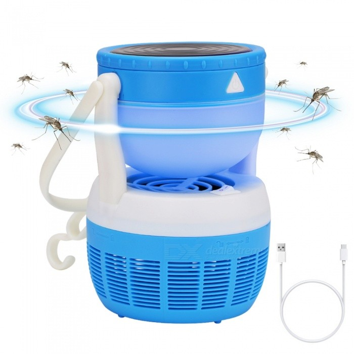 ZHISHUNJIA 2 in 1 Multi Function USB Mosquito Killing Lamp LED Camping Lamp - Blue