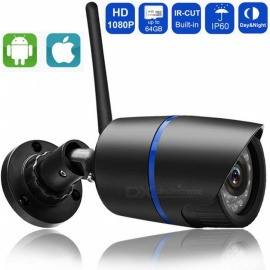ESAMACT 1080P 960P 720P Wi-Fi IP Camera, Wireless P2P Surveillance CCTV Bullet Outdoor Camera with SD Card Slot