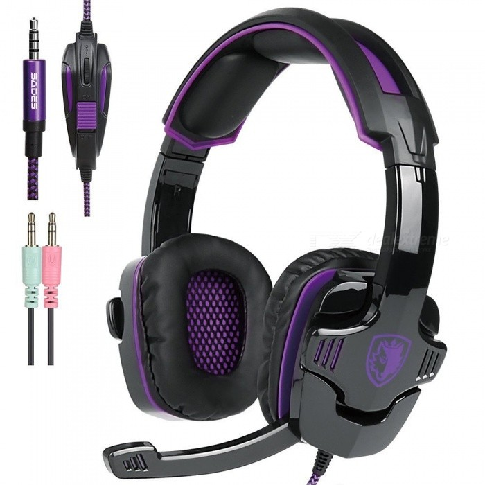 New Xbox One PS4 Gaming Headset with Mic Volume Control, SADES SA930 Stereo Headphone for PC Laptop Mac Tablet Smartphone