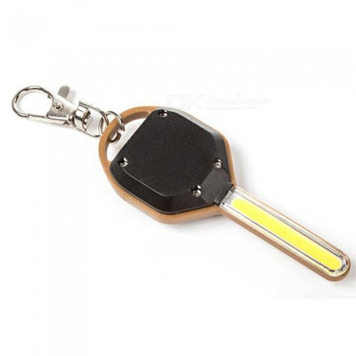 JEDX Mini COB Flashlight LED Lamp with Key Ring / Keychain