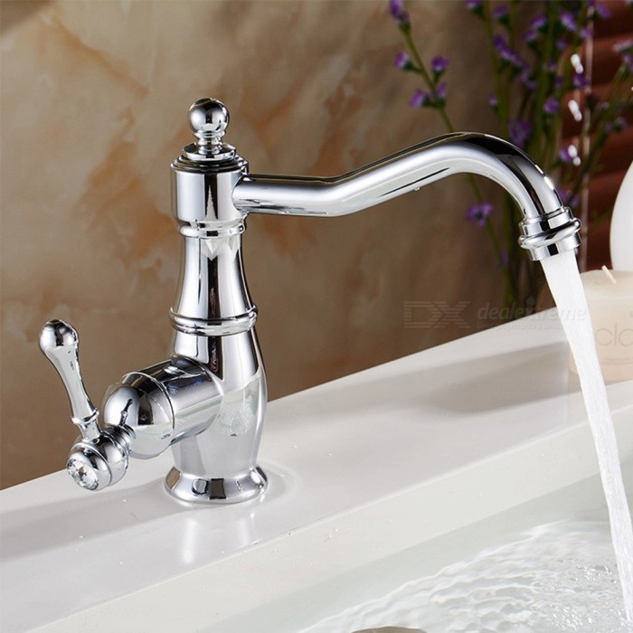 Brass-Chrome-360-Degree-Rotatable-Single-Handle-One-Hole-Bathroom-Sink-Faucet-with-Ceramic-Valve