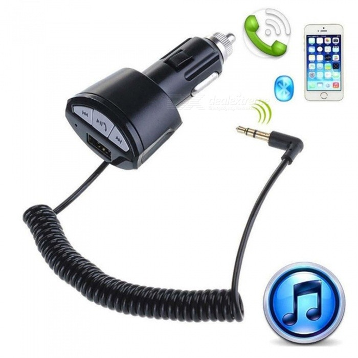 A2DP Bluetooth 3.0 Wireless Car Handsfree Stereo Music Audio Receiver Adapter 3.5mm AUX AUTO with USB Charger