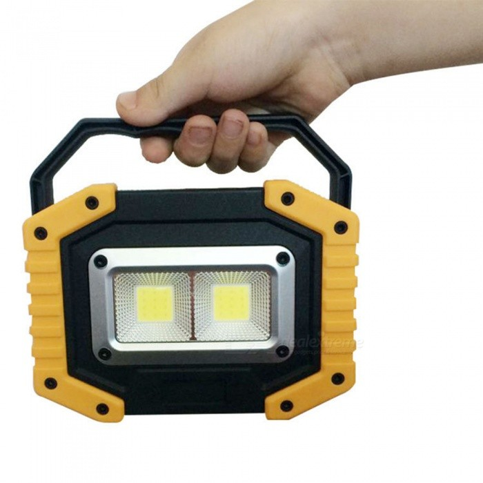 ZHAOYAO Waterproof  30W COB 3-Mode Uncharged Outdoor Working Lamp Light White Light