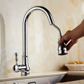 Brass-Chrome-360-Degree-Rotatable-Single-Handle-One-Hole-with-Ceramic-Valve-Kitchen-Faucet