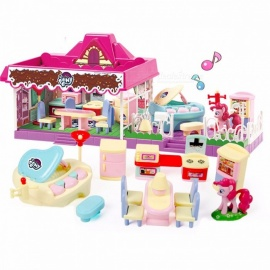 Diy-Dollhouse-3D-Miniature-Doll-Houses-Model-Toy-Handmade-Miniaturas-Doll-House-Toy-For-Children-Gift-Pink
