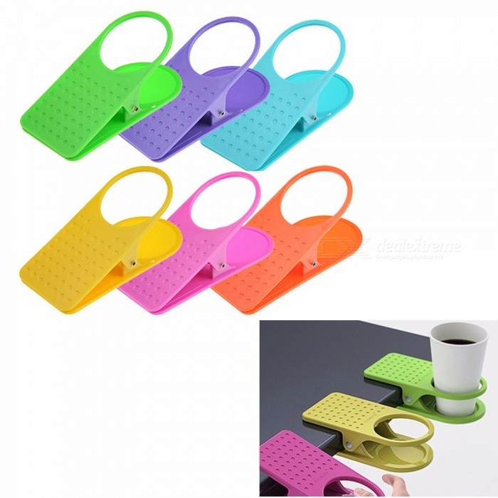 Fashion Cup Coffee Drink Holder Water Bottle Clip Use Home Office Desk Table Multi