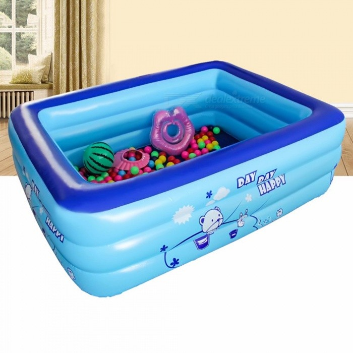 28ee54798a3 ... Baby Inflatable Square Swimming Pool For Kids 1.3m Size Trinuclear  Outdoor Basin Bathtub Pools Household ...