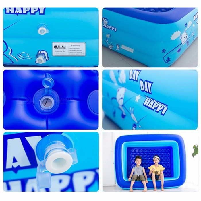 3dbbc664676 ... Baby Inflatable Square Swimming Pool For Kids 1.3m Size Trinuclear  Outdoor Basin Bathtub Pools Household
