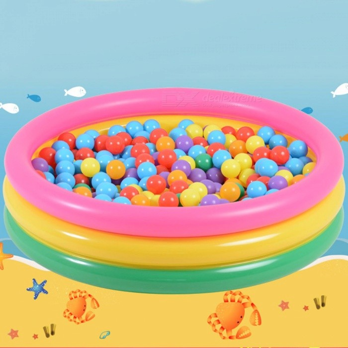 Trinuclear-Rainbow-Inflatable-Pools-Baby-Swimming-Pool-Portable-Outdoor-Children-Bathtub-YT-507-100*40cm-Multi