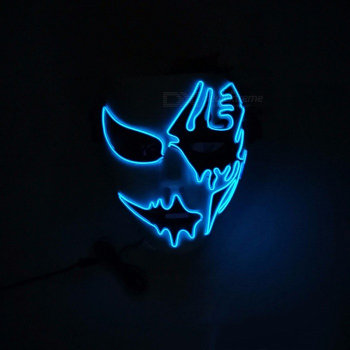 Newest Voice Control EL Cold Light Party Mask Neon Led Strip Arrow Shaped Mask For Fluorescent Fashion Show Blue