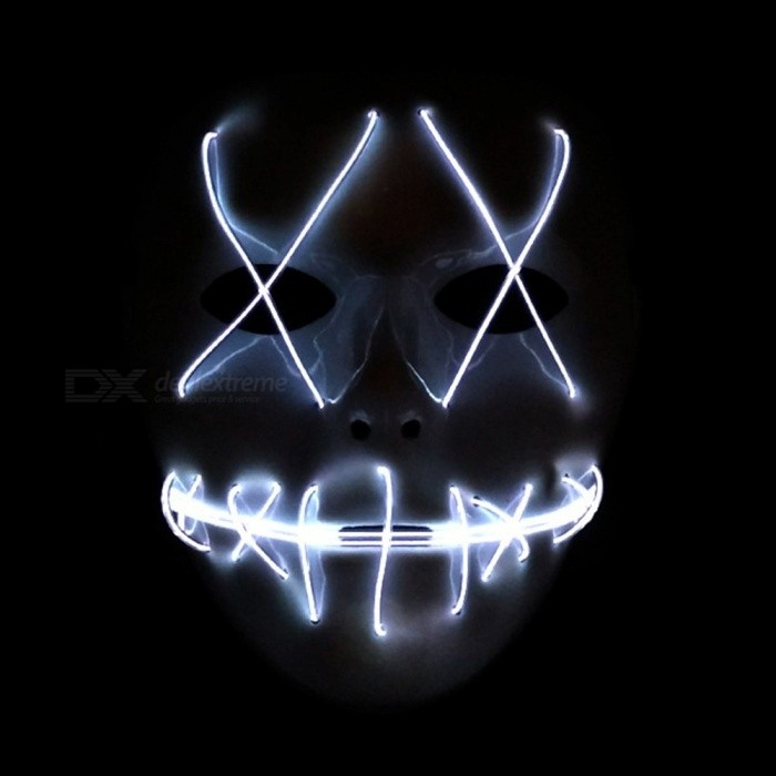 Novelty & Special Use Dropshipping El Wire Mask Light Up Neon Skull Led Mask For Halloween Party 2018 Theme Cosplay Masks Ship From Us