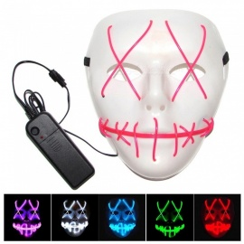 Halloween Masks LED Clothing Neon Terror EL Masks Cold Light Festival Party Glowing Dance Carnival Party Mask
