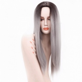 Ombre-Silver-Grey-Blonde-Long-Straight-Heat-Resistant-Synthetic-Hair-Wig-For-Women-Cosplay-Or-Party-Hairpiece-26inches