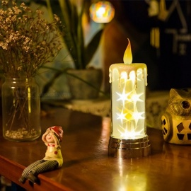 Novelty-Remote-Control-Night-Light-Candle-Star-Light-Desk-LED-Lamp-For-Home-Decor-Gifts-Bedroom-Holiday-Warm-White-Warm-WhiteLight-Grey0-5W