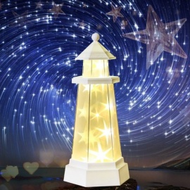 dbfb64f0ae Novelty Remote Control Night Light Tower Style Star Light Desk LED Lamp For  Home Decor Gifts
