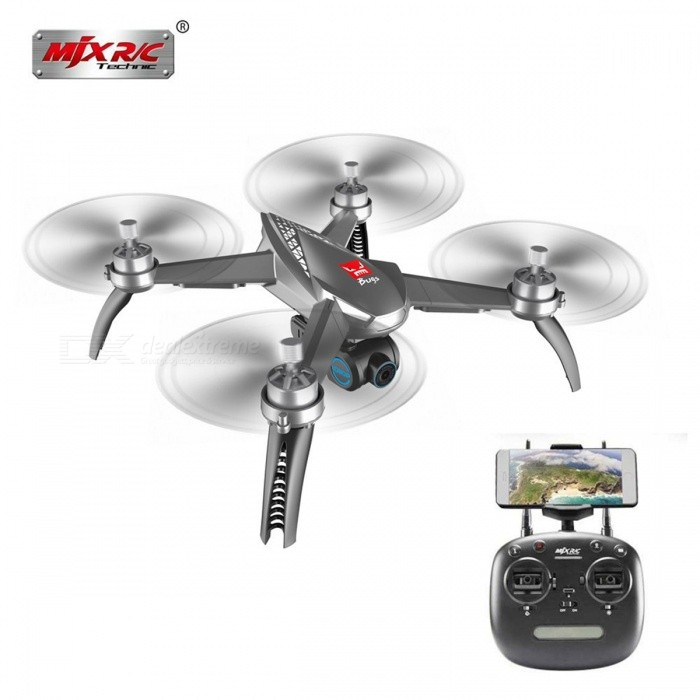 MJX B5W Bugs 5W Wifi FPV RC Quadcopter Drone With 1080P Camera + Brushless Motors GPS Follow ME RTF Gray