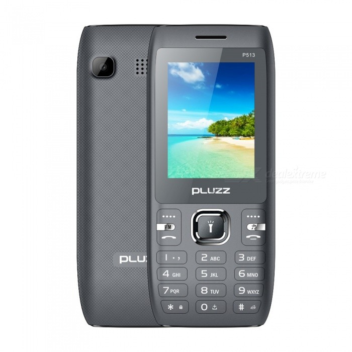 PLUZZ P513 Spreadtrum 6531E Four Torches 3000mAh High Capacity Battery Feature Phone - Gray