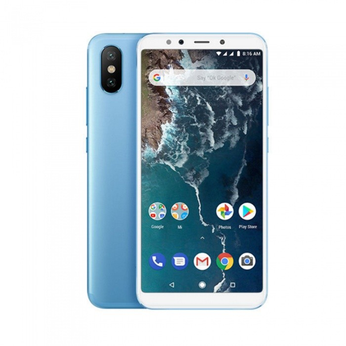 Xiaomi A2 Android Phone with 4GB RAM, 32GB ROM - Blue